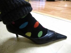 Zapatos de tacón y de punta (La Cenicienta que no quería comer perdices)